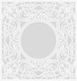 lace background round vignette vector image