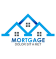Real Estate Mortgage Home Construction Company vector image