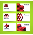 Templates of business cards vector image