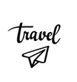 travel paper plane icon vector image