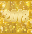 2018 happy new year background party banner with vector image vector image