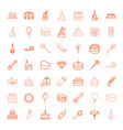 49 celebrate icons vector image vector image