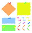 A set of colored sheets of different sizes and