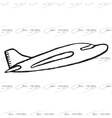 Abstract seamless pattern with plane Bon Voyage vector image
