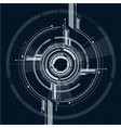 abstract technological interface on grid style vector image
