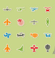 air transport icon set vector image vector image