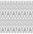 Black and white ethnic geometric floral seamless vector image vector image