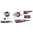 black friday sale grunge sign set pink special vector image