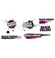 black friday sale grunge sign set pink special vector image vector image
