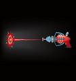 blaster laser gan game shot ray and flash vector image vector image