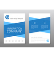 blue annual report brochure or flyer design vector image