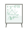 board with mathematical formulas and graphics vector image vector image