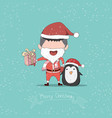 boy and penguin cute christmas character drawing vector image vector image