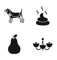 breed cooking and or web icon in black style vector image
