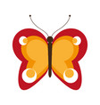 butterfly insect icon image vector image