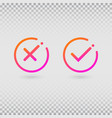 check marks set in modern gradient colors bright vector image vector image