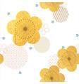 cherry blossom flower seamless background vector image