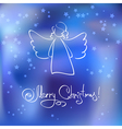 Christmas Card with Angel vector image vector image