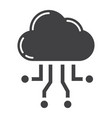 cloud computing glyph icon seo and development vector image