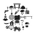 construction material icons set simple style vector image vector image