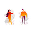 cute couple - modern flat design style vector image vector image