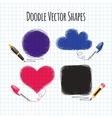 Doodle Shapes Set vector image vector image