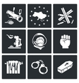 European integration of Ukraine Icons Set vector image vector image