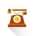 flat style vintage wooden dial phone icon vector image vector image