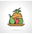 Fruit dish flat color icon vector image