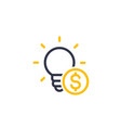 funding of the new product seed capital icon vector image vector image
