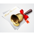Gold Christmas bells vector image vector image
