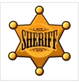 Golden sheriff star badge vector image vector image
