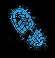 grunge blue shoes vector image vector image