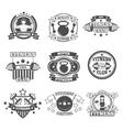 Gym Emblems Set vector image vector image