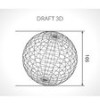 Hand-drawn scribble Sphere Draft architect vector image vector image