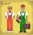Industrial workers concept vector image