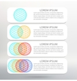 Infographic template list vector image