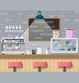 interior of coffee shop pub cafe or bar vector image vector image