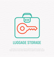 luggage storage thin line icon vector image