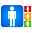 man person icons vector image vector image