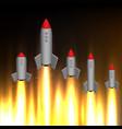 many rockets go up vector image