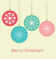 merry christmas and new year retro style vector image