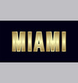 miami city typography design greetings for vector image