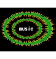 music colorful equaliser bar in black background vector image