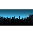 night city background with business office and vector image vector image