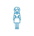 office administrator linear icon concept office vector image