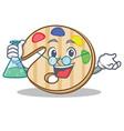 professor paint palette character cartoon vector image