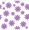 purple flowers vector image vector image