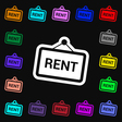 Rent icon sign Lots of colorful symbols for your vector image vector image
