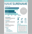 resume template for worker vector image vector image